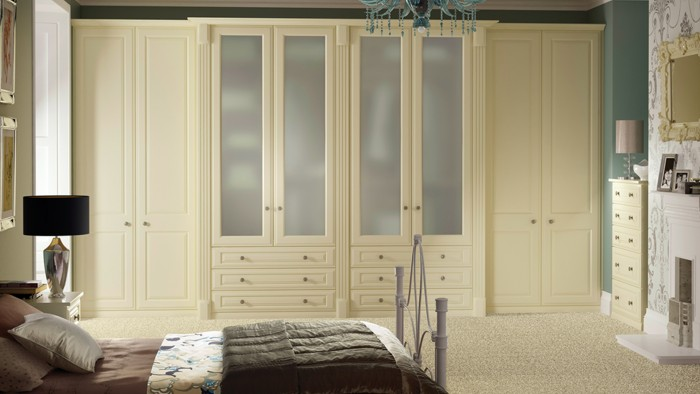 Bedroom Designs - Buckingham cream smooth supplied by Superior Cabinets