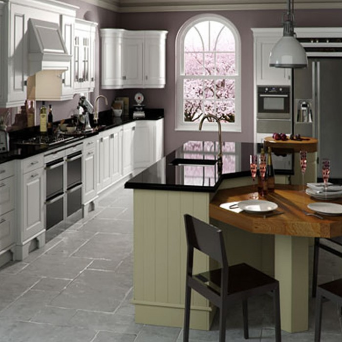 Kitchen Design - Dante Painted: Brillant White and Sage Green supplied by Superior Cabinets