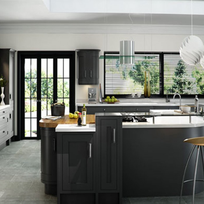 Kitchen Design - Iona Inframe Painted: Graphite supplied by Superior Cabinets