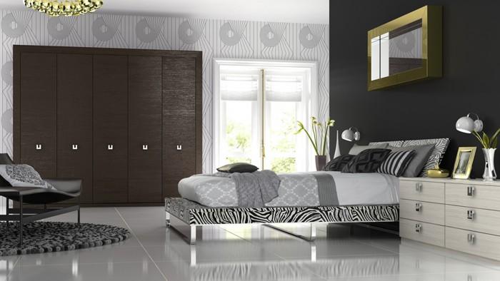 Bedroom Designs - Premier oak melinga & white avola supplied by Superior Cabinets
