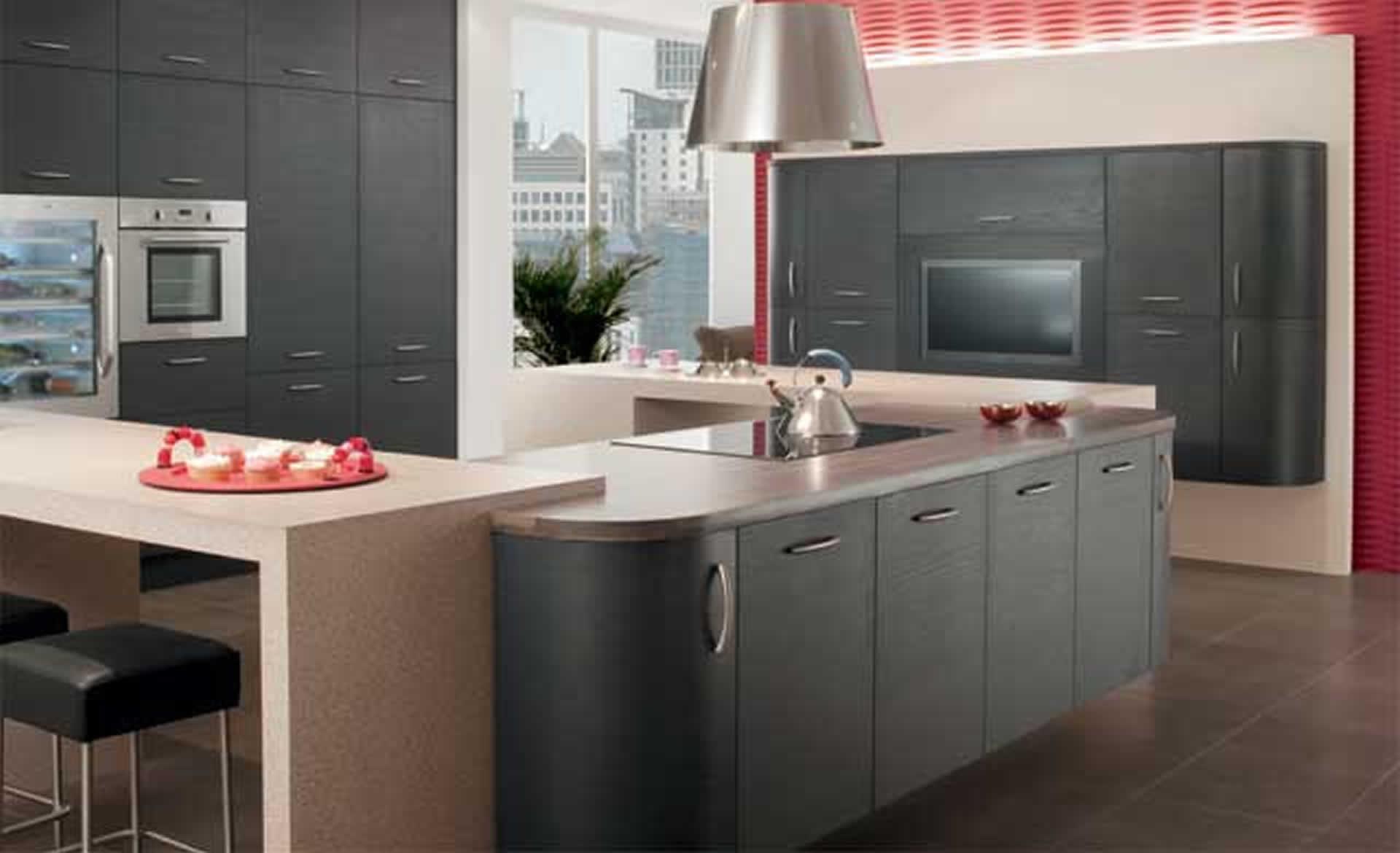 Kitchen Design - Tavola Oak: stained Hacienda Black supplied by Superior Cabinets