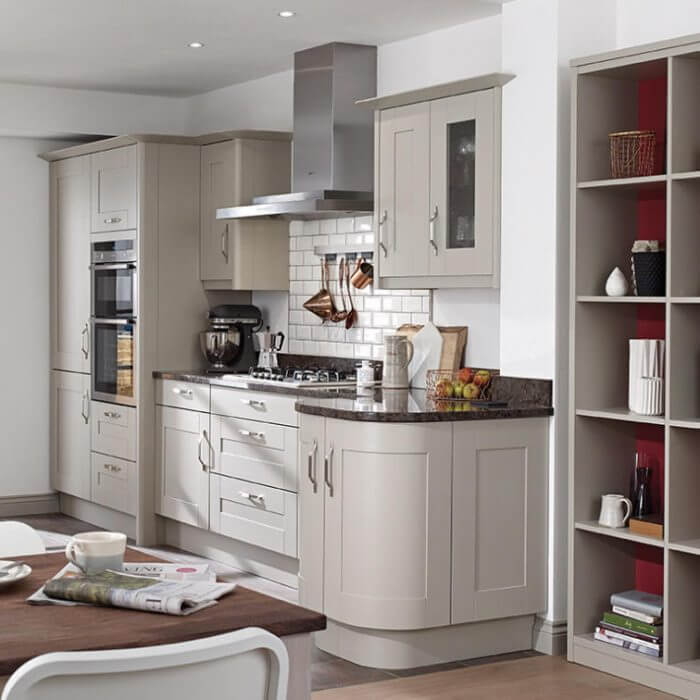 Our popular Broadoak shaker design shown in the painted stone finish. view 2