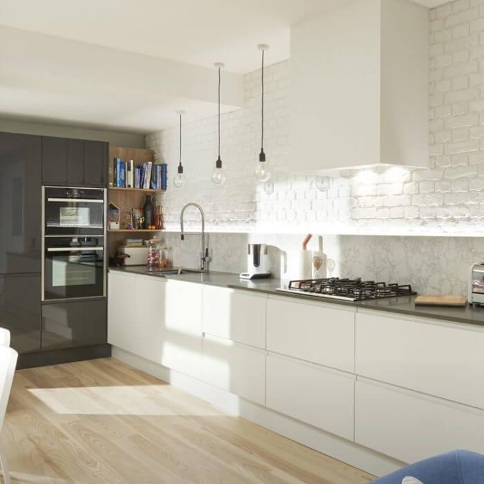 Handleless Kitchen Designs - Style 5 view 1